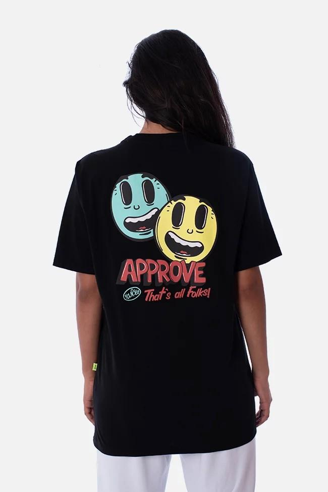 approve Tシャツブラック