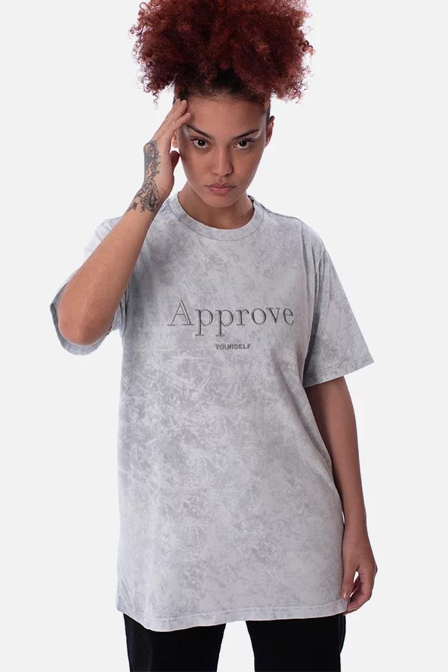 approve Tシャツグレー