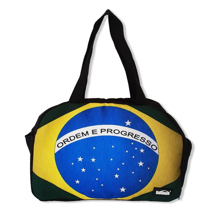 ブラジル国旗ボストンバッグ