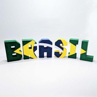 ブラジルアルファベットクラフトオブジェ