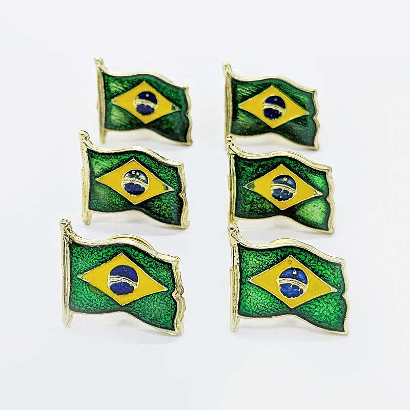 ブラジル国旗ピンバッチ