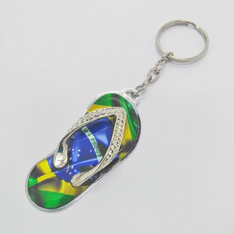 ブラジル国旗柄ビーチサンダルキーホルダー
