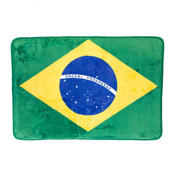 ブラジル国旗デザインマット