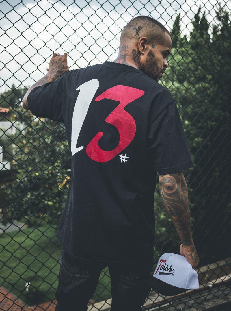Toiss メンズ Tシャツ ブラック